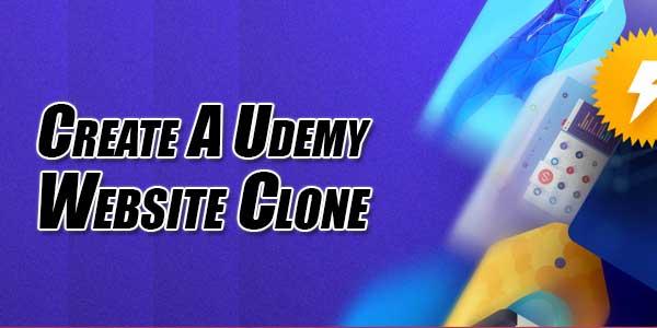 Create-A-Udemy-Website-Clone