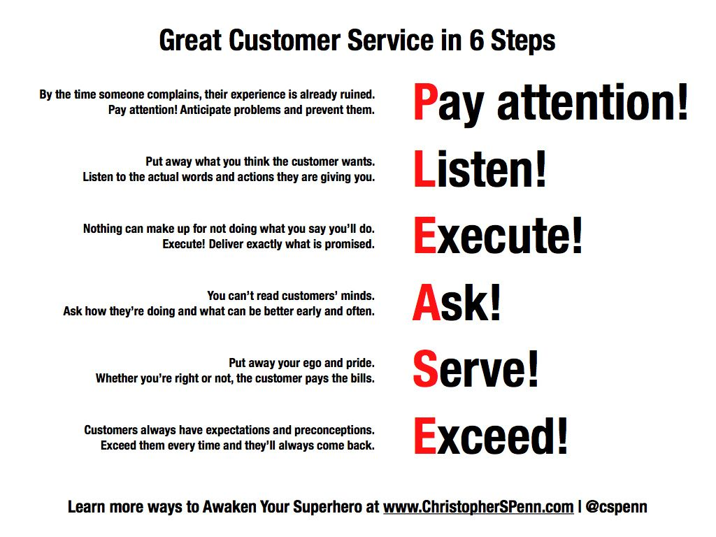 Great Customer Service In 6 Steps