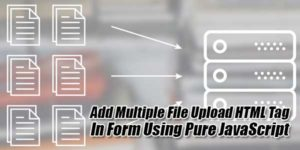 Add-Multiple-File-Upload-HTML-Tag-In-Form-Using-Pure-JavaScript