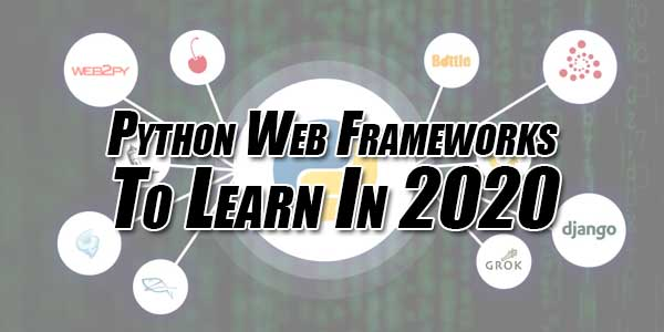 Python-Web-Frameworks-to-Learn-in-2020