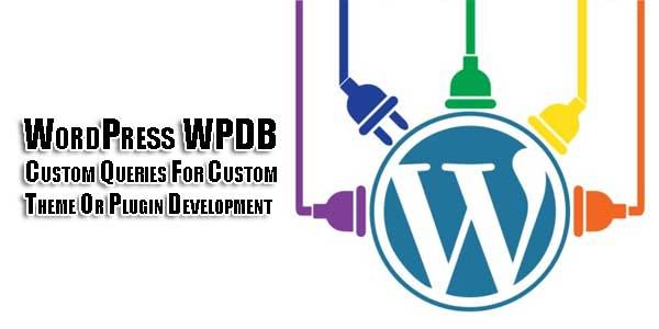 WordPress-WPDB-Custom-Queries-For-Custom-Theme-Or-Plugin-Development