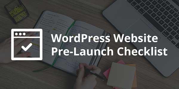 WordPress-Website-Pre-Launch-Checklist