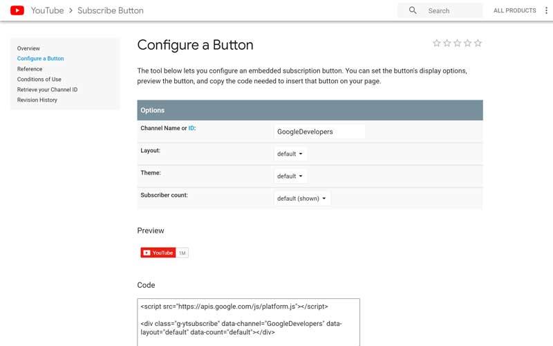 YouTube-Subscribe-Button-Configure