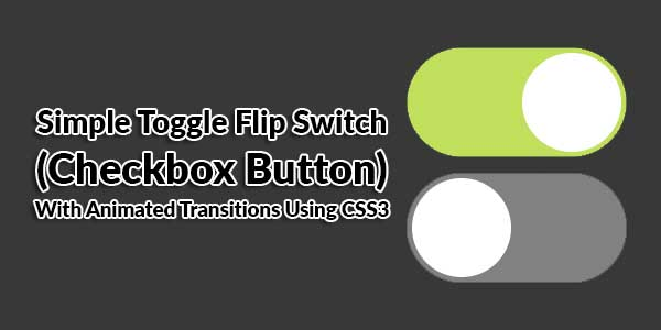 Simple-Toggle-Flip-Switch-(Checkbox-Button)-With-Animated-Transitions-Using-CSS3